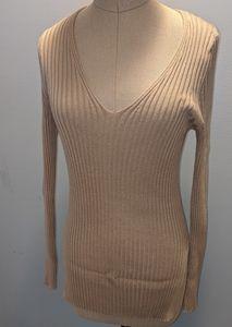 NWOT Ribbed V Neck Sweater